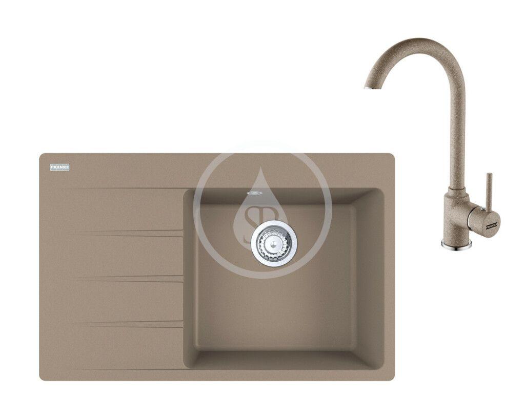 FRANKE FRANKE - Sety Set G235, fragranitový drez CNG 611-78 TL/7 a batéria FP 9000.424, kašmír 114.0650.844