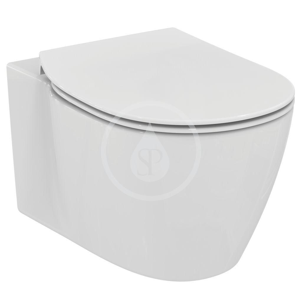 IDEAL STANDARD - Connect Závesné WC s doskou SoftClose, AquaBlade, biela E049301