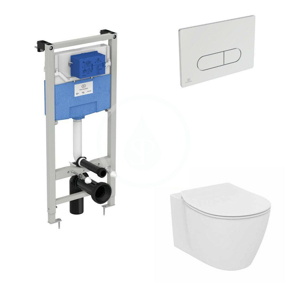IDEAL STANDARD - ProSys Set predstenovej inštalácie ProSys, klozetu a dosky Connect, tlačidla Oleas M1, Aquablade, SoftClose, chróm R039601