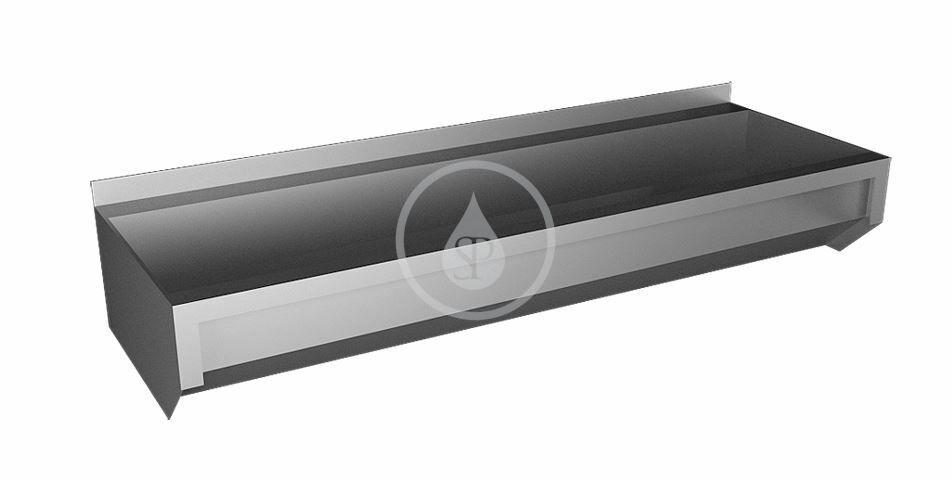 SANELA - Nerezové žlaby Žľab z nehrdzavejúcej ocele neopláštený, dĺžka 1250 mm SLUN 10