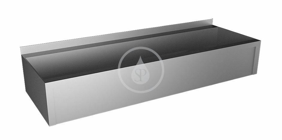 SANELA - Nerezové žlaby Žľab z nehrdzavejúcej ocele opláštený, dĺžka 1250 mm SLUN 10P