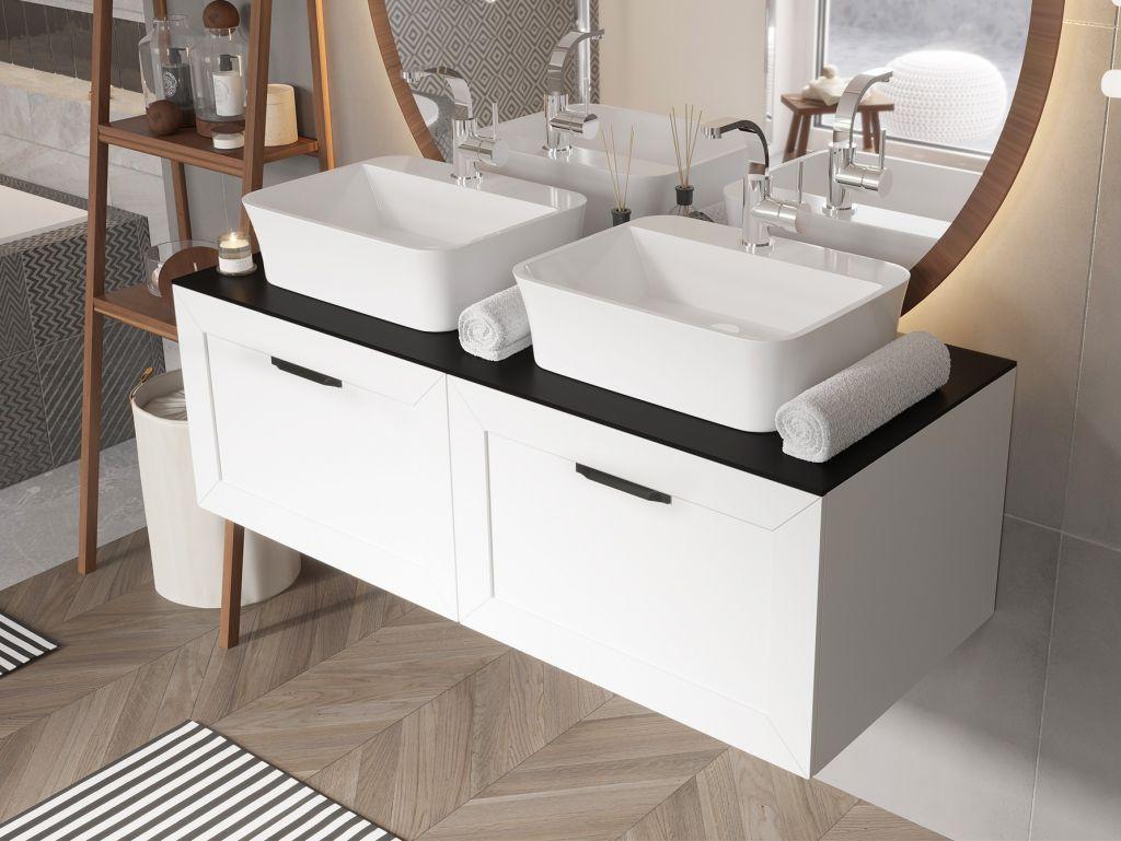 HOPA - Spodná skrinka DEXA biela matná - Farba - Biela, Madla - Čierna, Rozmer A - 80 cm, Rozmer B - 50 cm, Rozmer C - 40 cm NASUD854BC