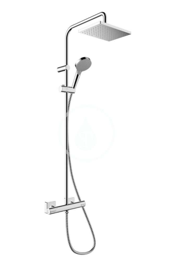 HANSGROHE HANSGROHE - Vernis Shape Sprchový set Showerpipe 230 s termostatom, Green, chróm 26319000