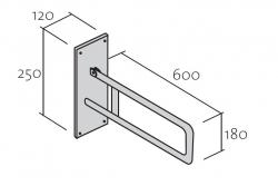 CERSANIT - Nástěnné madlo 60 pro WC/ umyvadla (K97-033), fotografie 6/3