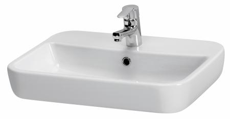 CERSANIT - Umývadlo CASPIA štvorcový 60 s prepadom (K11-0095)