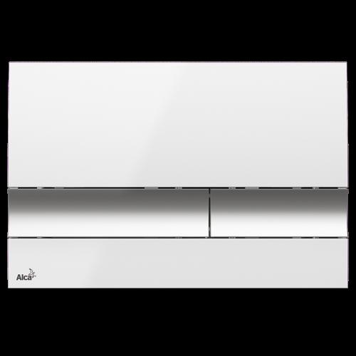 Alcaplast Ovládacie tlačidlo, biela / chróm-lesk M1720-1 (M1720-1)