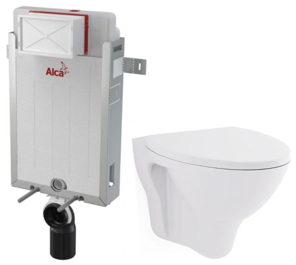 ALCAPLAST  Renovmodul - predstenový inštalačný systém bez tlačidla + WC CERSANIT ARES + SEDADLO (AM115/1000 X AR1)