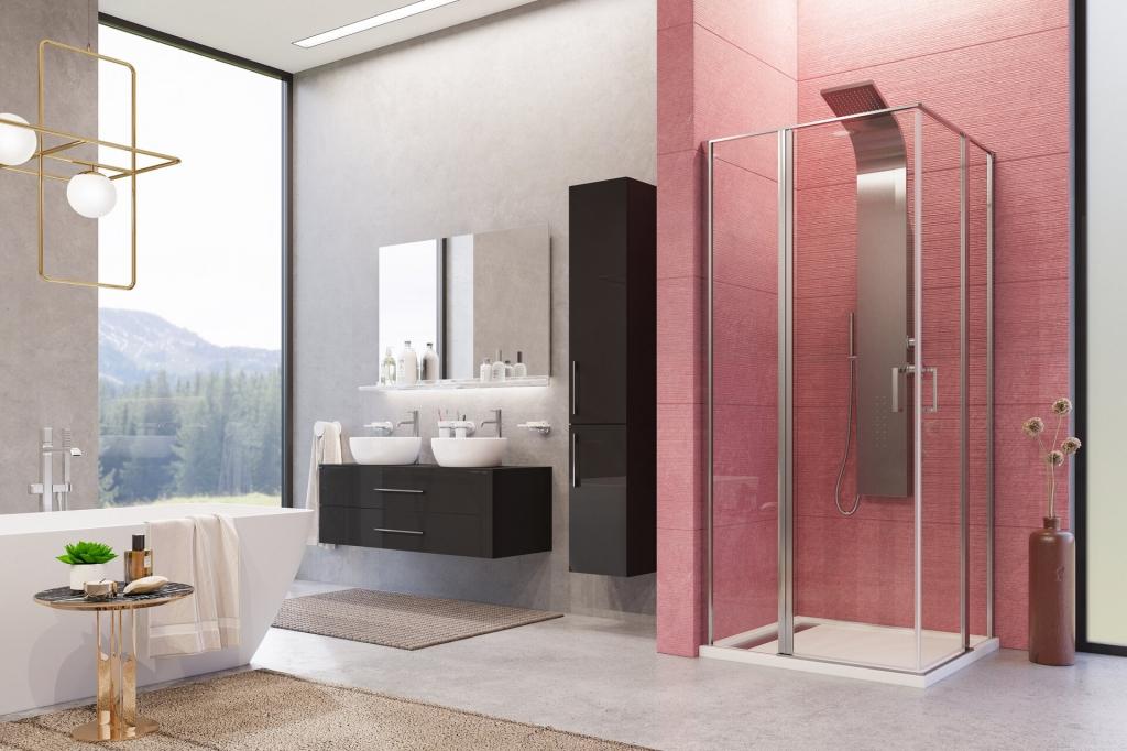 Aquatek - YES A4 90 Štvorcový sprchovací kút s dvoma otváracími dverami, výplň sklo - číre (YESA490-06)