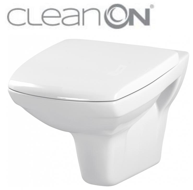 CERSANIT - ZÁVESNÁ MISA CARINA NEW CLEAN ON + sedátko K31-046 + K98-0068