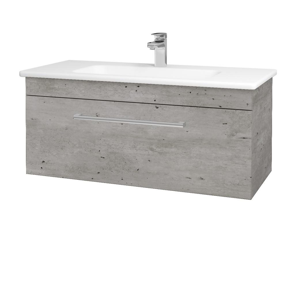 Dreja - Kúpeľňová skriňa ASTON SZZ 100 - D01 Beton / Úchytka T03 / D01 Beton (131371C)