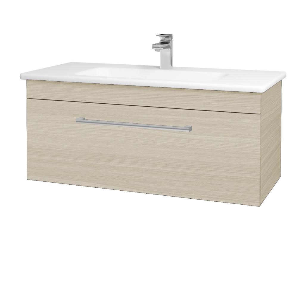 Dreja - Kúpeľňová skriňa ASTON SZZ 100 - D04 Dub / Úchytka T03 / D04 Dub (131401C)