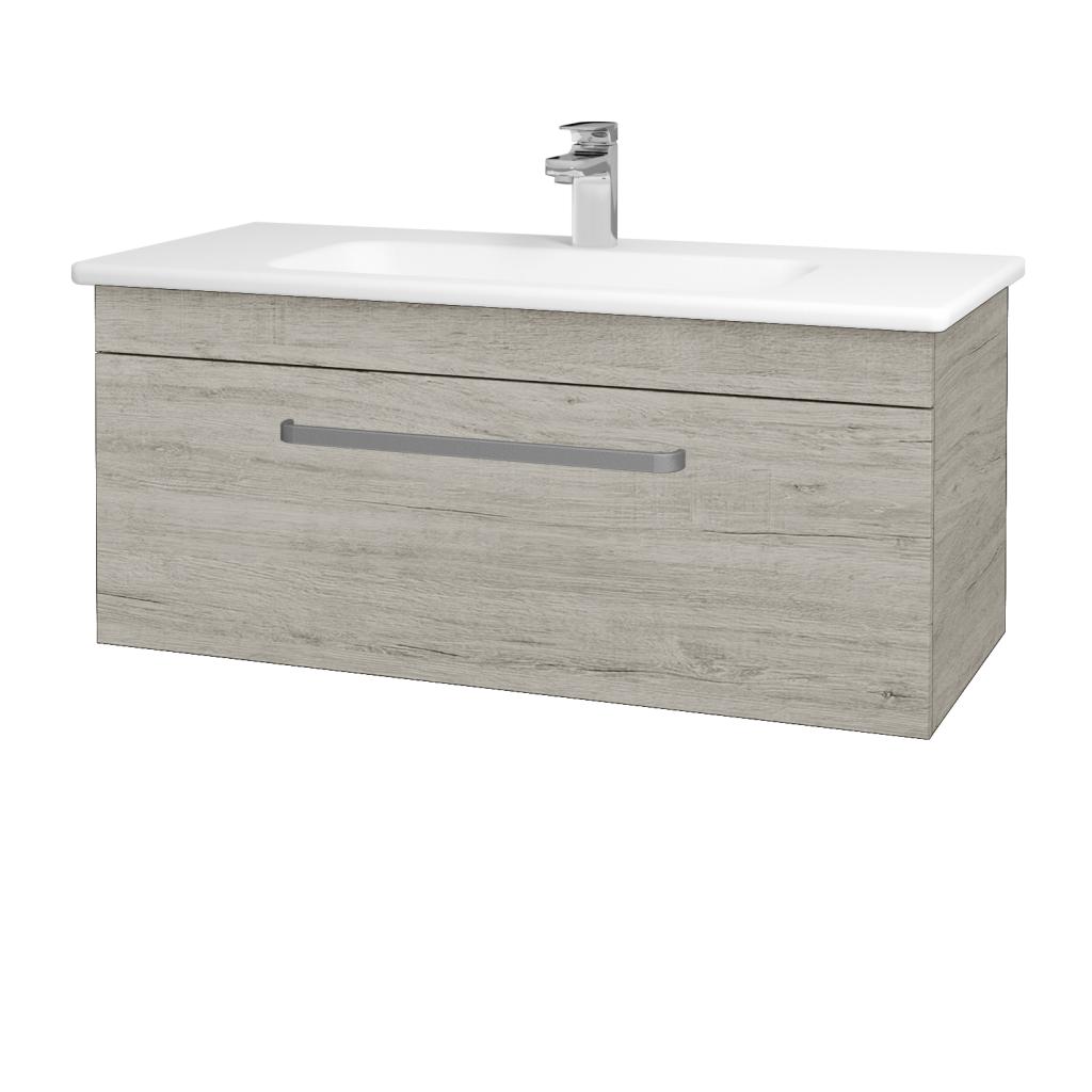 Dreja - Kúpeľňová skriňa ASTON SZZ 100 - D05 Oregon / Úchytka T01 / D05 Oregon (131418A)