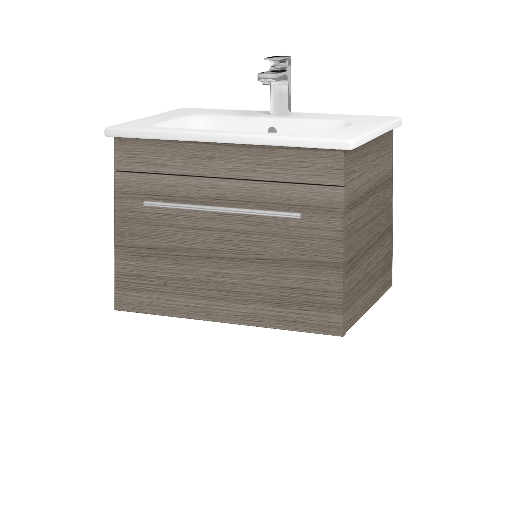Dreja - Kúpeľňová skriňa ASTON SZZ 60 - D03 Cafe / Úchytka T02 / D03 Cafe (131258B)