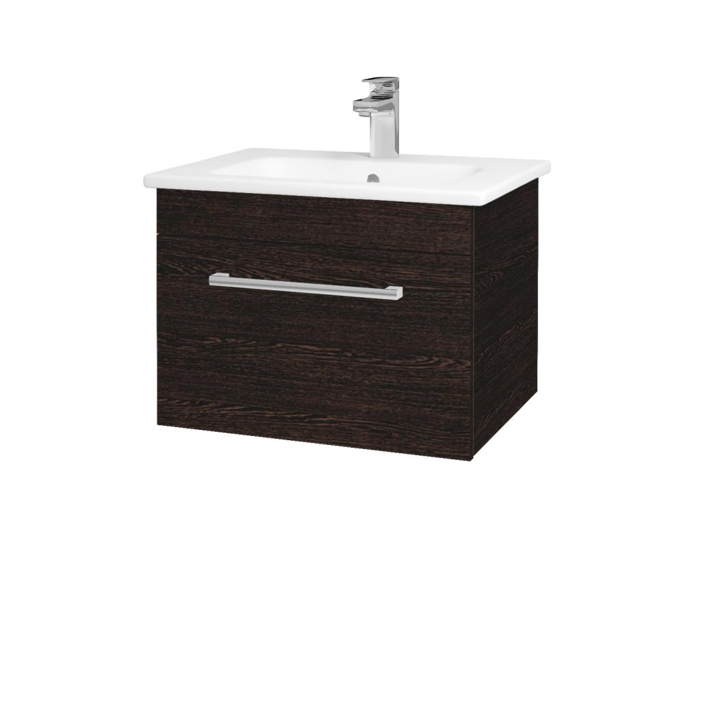 Dreja - Kúpeľňová skriňa ASTON SZZ 60 - D08 Wenge / Úchytka T03 / D08 Wenge (131296C)
