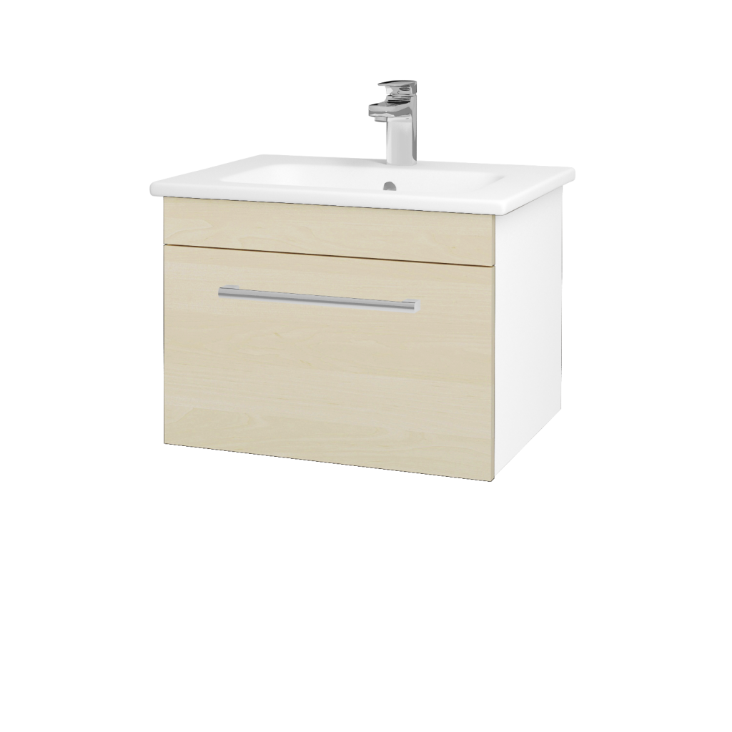 Dreja - Kúpeľňová skriňa ASTON SZZ 60 - N01 Bílá lesk / Úchytka T03 / D02 Bříza (130893C)