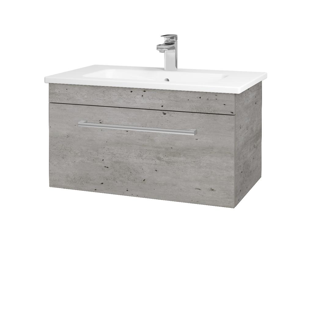 Dreja - Kúpeľňová skriňa ASTON SZZ 80 - D01 Beton / Úchytka T03 / D01 Beton (131302C)
