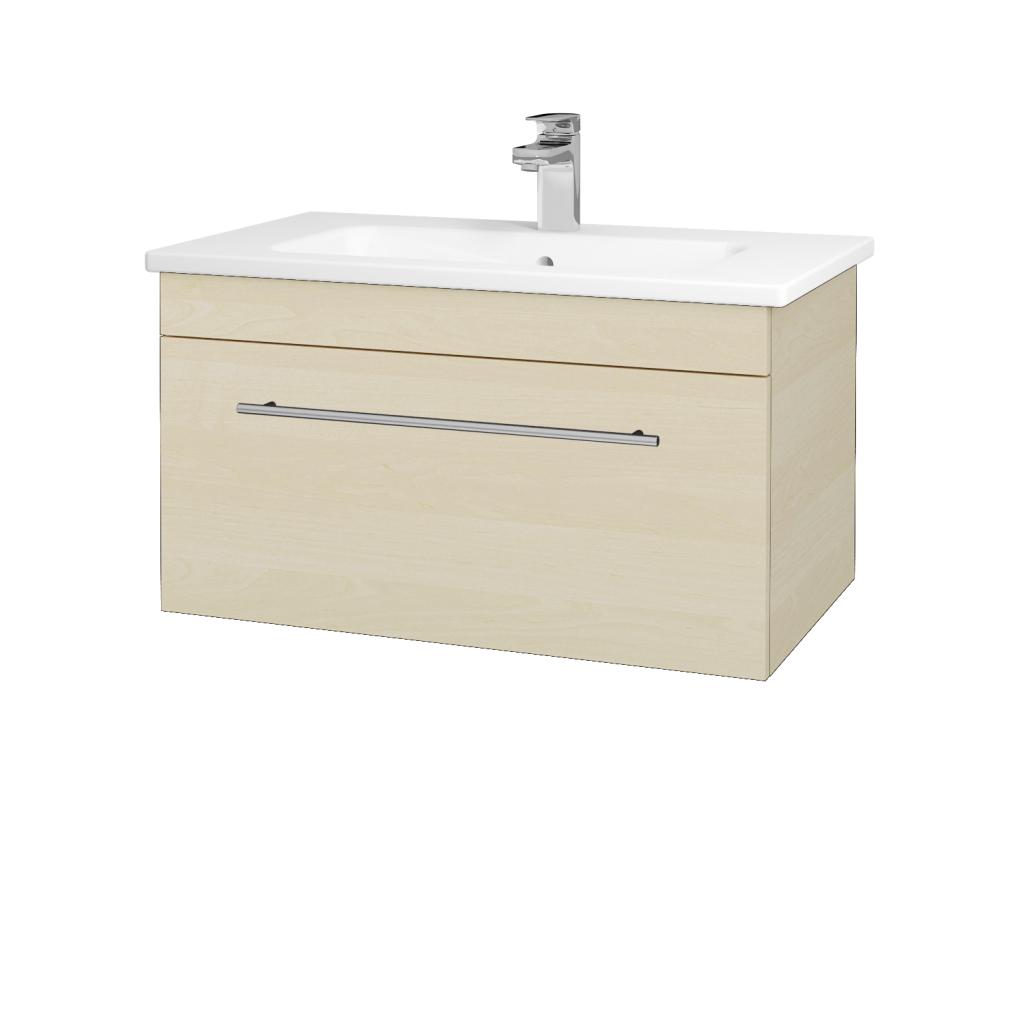 Dreja - Kúpeľňová skriňa ASTON SZZ 80 - D02 Bříza / Úchytka T02 / D02 Bříza (131319B)
