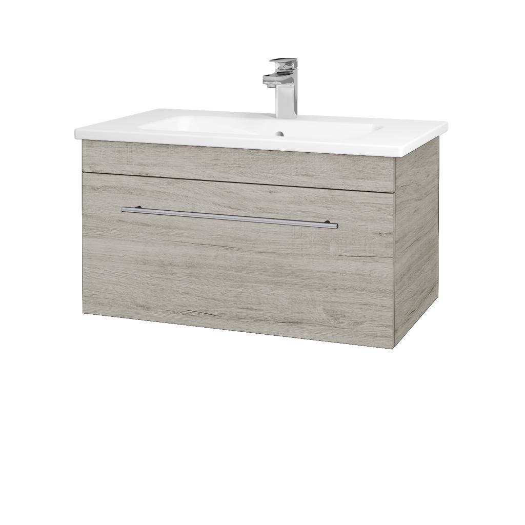 Dreja - Kúpeľňová skriňa ASTON SZZ 80 - D05 Oregon / Úchytka T02 / D05 Oregon (131340B)