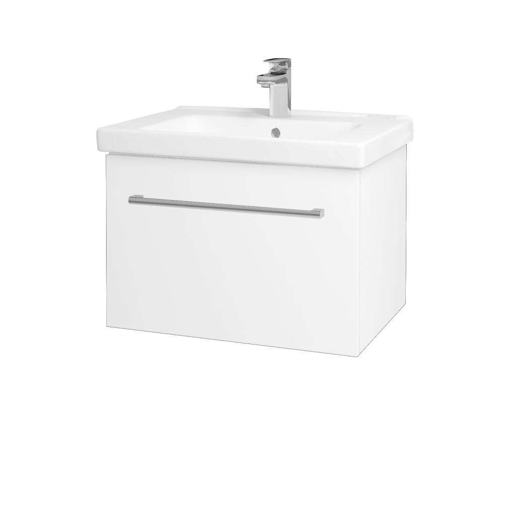 Dreja - Kúpeľňová skriňa BIG INN SZZ 65 - N01 Bílá lesk / Úchytka T03 / L01 Bílá vysoký lesk (132750C)