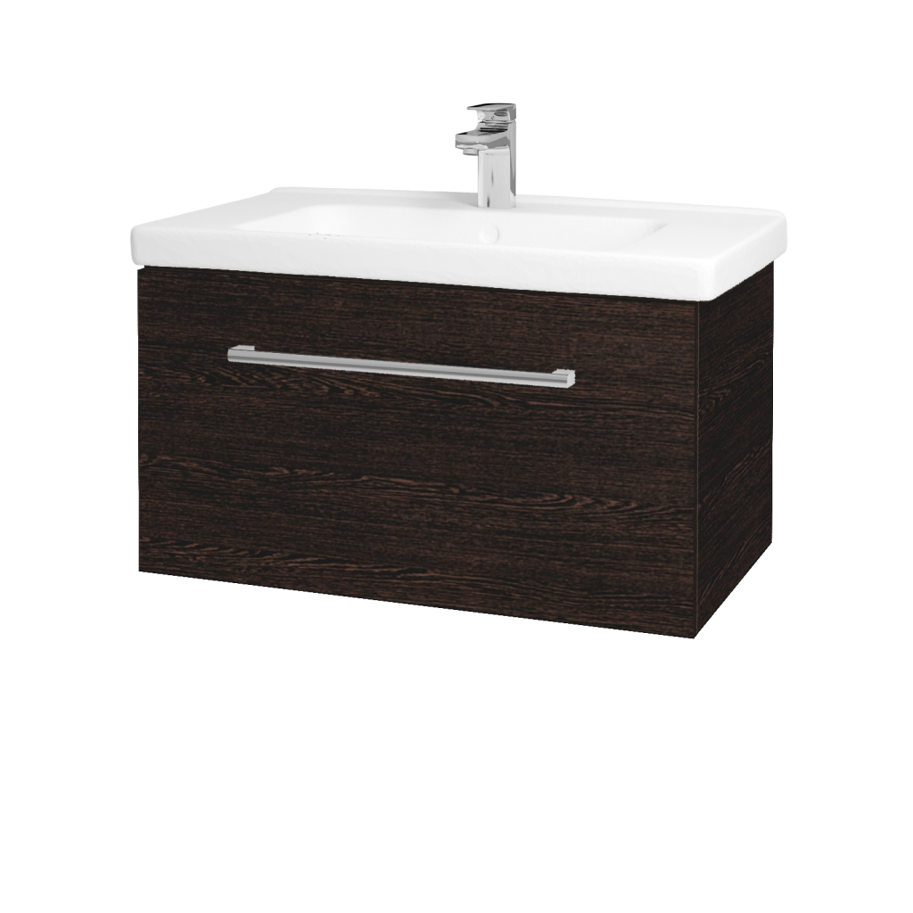 Dreja - Kúpeľňová skriňa BIG INN SZZ 80 - D08 Wenge / Úchytka T03 / D08 Wenge (132682C)