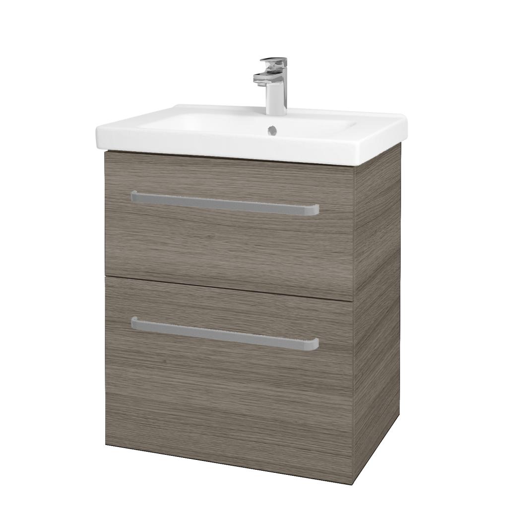 Dreja - Kúpeľňová skriňa BIG INN SZZ2 65 - D03 Cafe / Úchytka T01 / D03 Cafe (133009A)