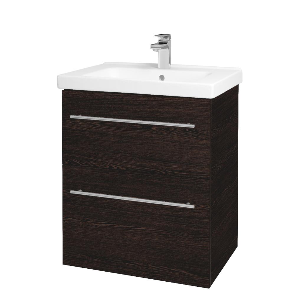 Dreja - Kúpeľňová skriňa BIG INN SZZ2 65 - D08 Wenge / Úchytka T02 / D08 Wenge (133047B)