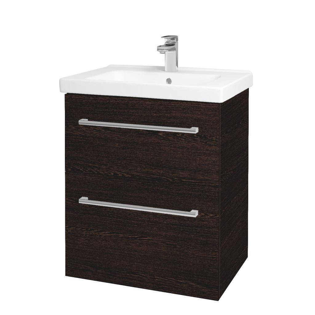 Dreja - Kúpeľňová skriňa BIG INN SZZ2 65 - D08 Wenge / Úchytka T03 / D08 Wenge (133047C)