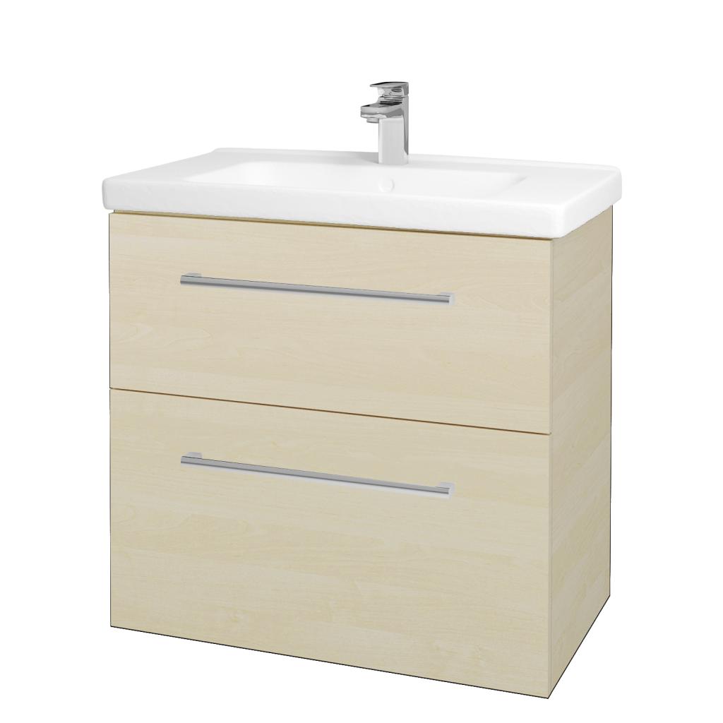 Dreja - Kúpeľňová skriňa BIG INN SZZ2 80 - D02 Bříza / Úchytka T03 / D02 Bříza (133054C)
