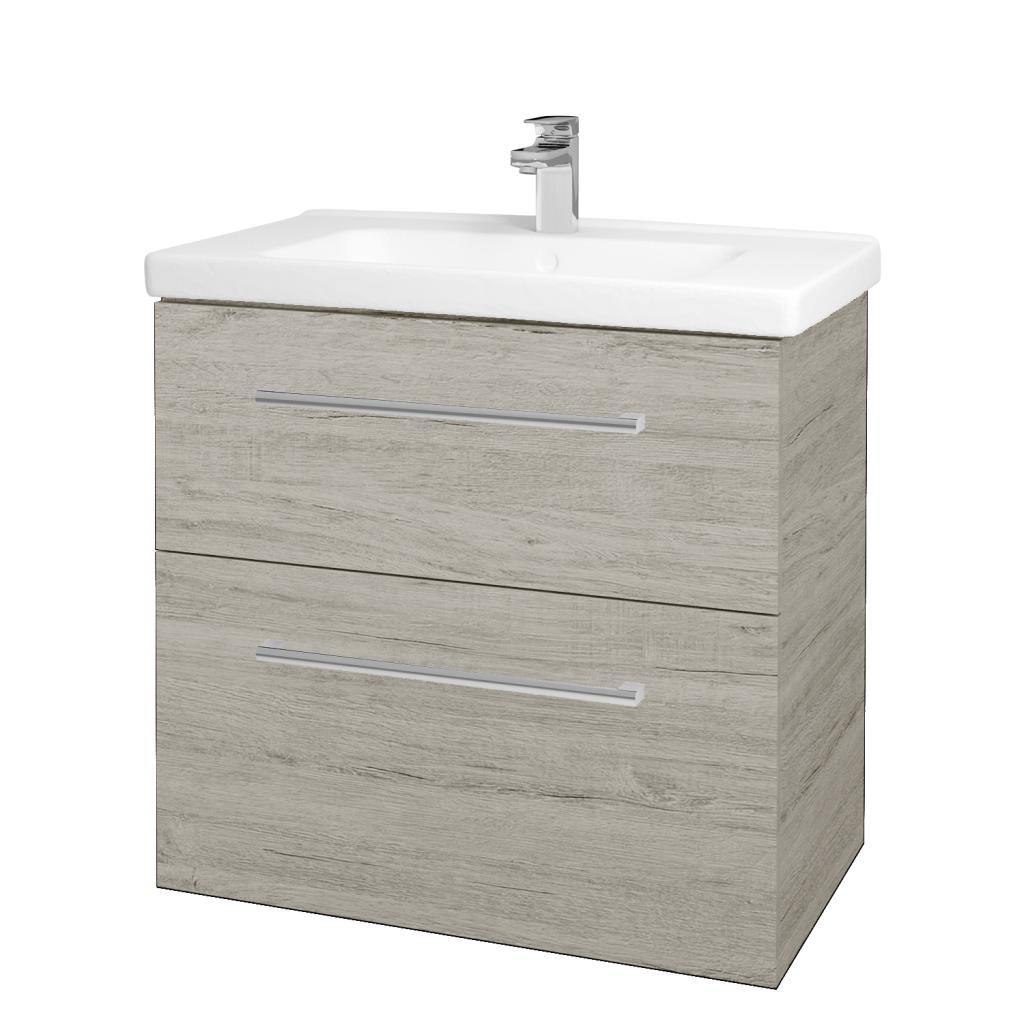 Dreja - Kúpeľňová skriňa BIG INN SZZ2 80 - D05 Oregon / Úchytka T03 / D05 Oregon (133085C)