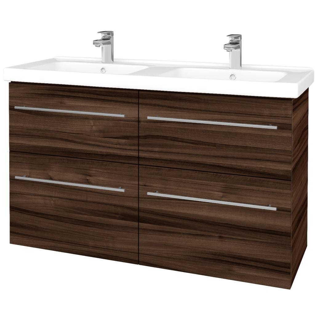 Dreja - Kúpeľňová skriňa BIG INN SZZ4 125 - D06 Ořech / Úchytka T02 / D06 Ořech (27806B)