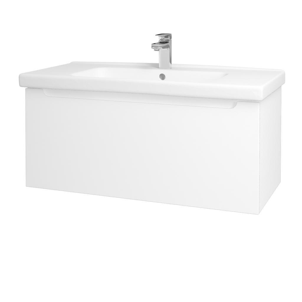 Dreja - Kúpeľňová skriňa COLOR SZZ 100 - N01 Bílá lesk / L01 Bílá vysoký lesk (123031)