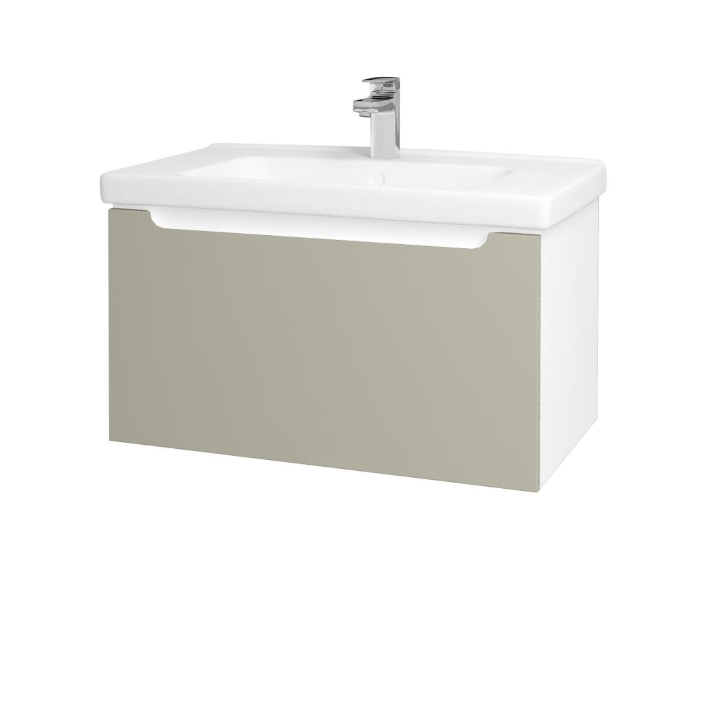 Dreja - Kúpeľňová skriňa COLOR SZZ 80 - N01 Bílá lesk / L04 Béžová vysoký lesk (123017)