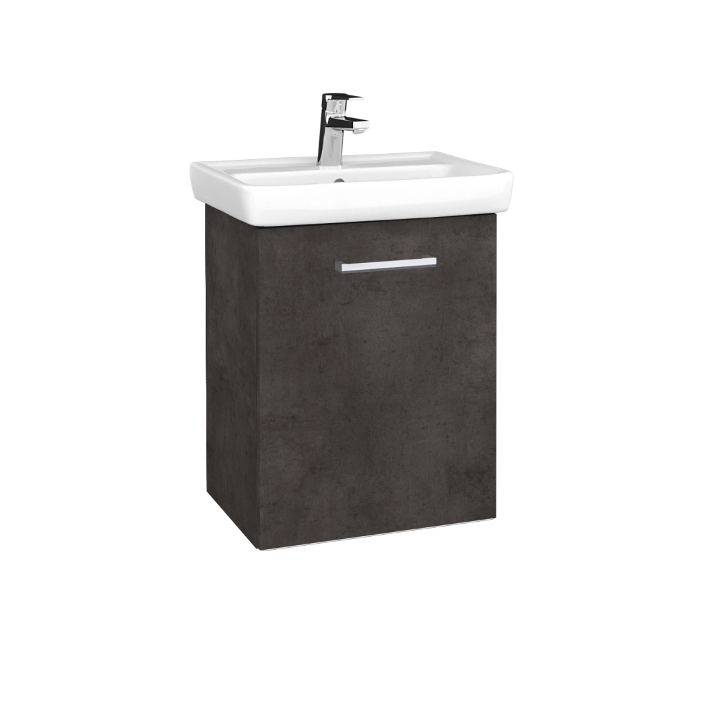 Dreja - Kúpeľňová skriňa DOOR SZD 50 - D16  Beton tmavý / Úchytka T03 / D16 Beton tmavý / Pravé (340421CP)