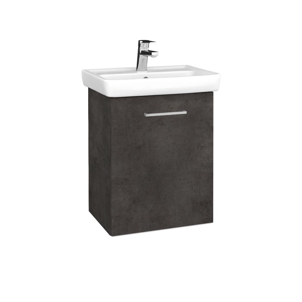 Dreja - Kúpeľňová skriňa DOOR SZD 50 - D16  Beton tmavý / Úchytka T04 / D16 Beton tmavý / Pravé (340421EP)