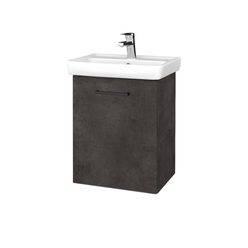 Dreja - Kúpeľňová skriňa DOOR SZD 50 - D16  Beton tmavý / Úchytka T06 / D16 Beton tmavý / Levé (340421H)