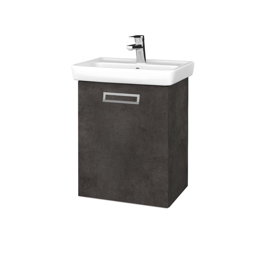 Dreja - Kúpeľňová skriňa DOOR SZD 50 - D16  Beton tmavý / Úchytka T39 / D16 Beton tmavý / Levé (340421G)