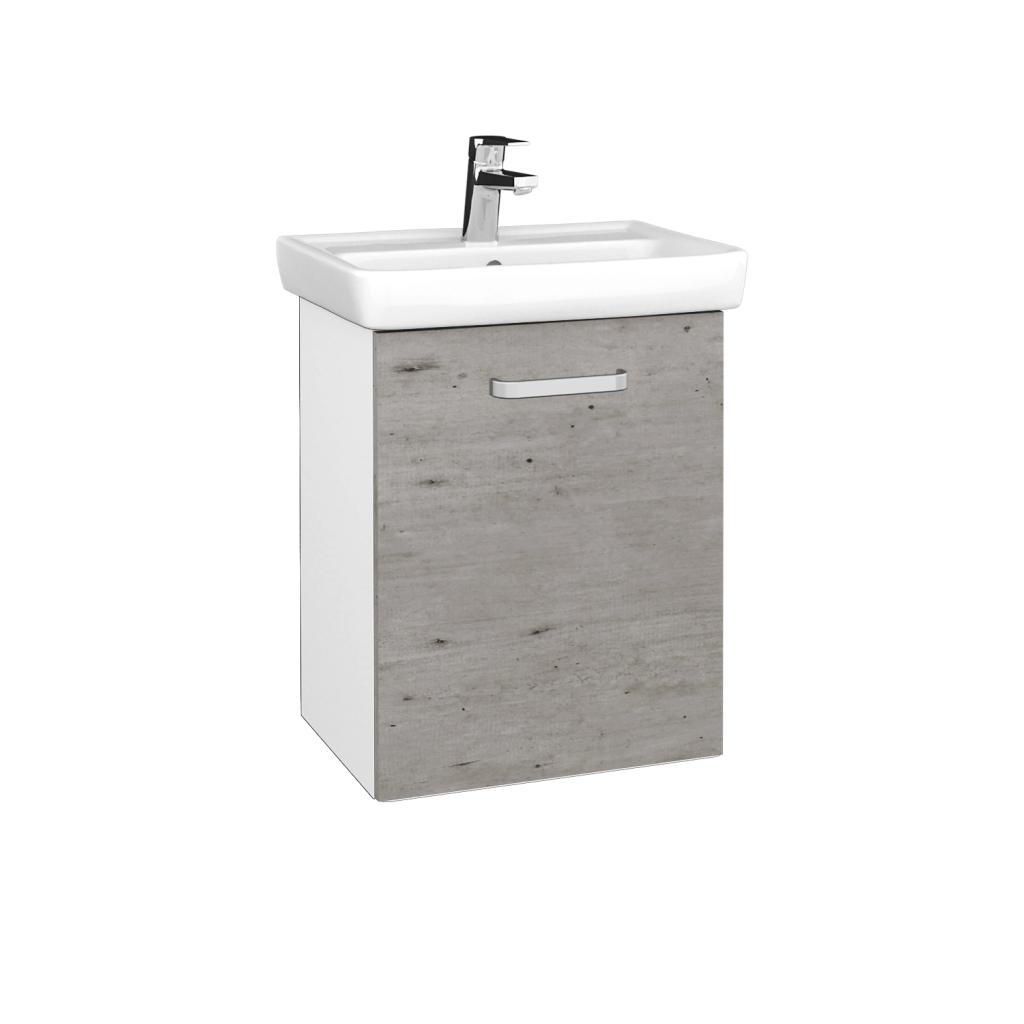 Dreja - Kúpeľňová skriňa DOOR SZD 50 - N01 Bílá lesk / Úchytka T01 / D01 Beton / Pravé (340520AP)
