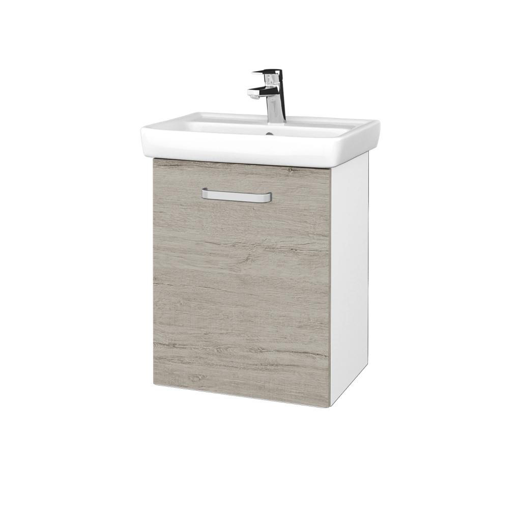 Dreja - Kúpeľňová skriňa DOOR SZD 50 - N01 Bílá lesk / Úchytka T01 / D05 Oregon / Levé (340568A)