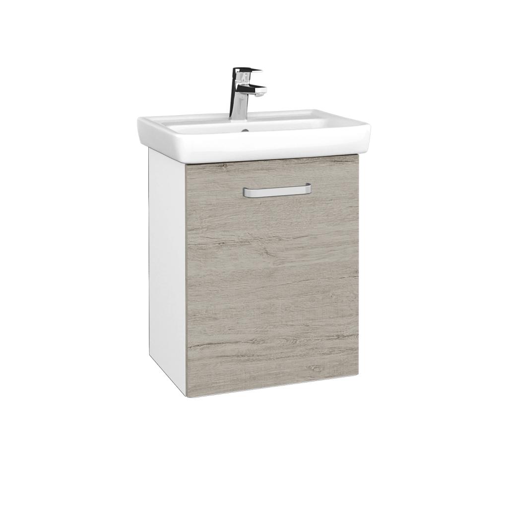 Dreja - Kúpeľňová skriňa DOOR SZD 50 - N01 Bílá lesk / Úchytka T01 / D05 Oregon / Pravé (340568AP)