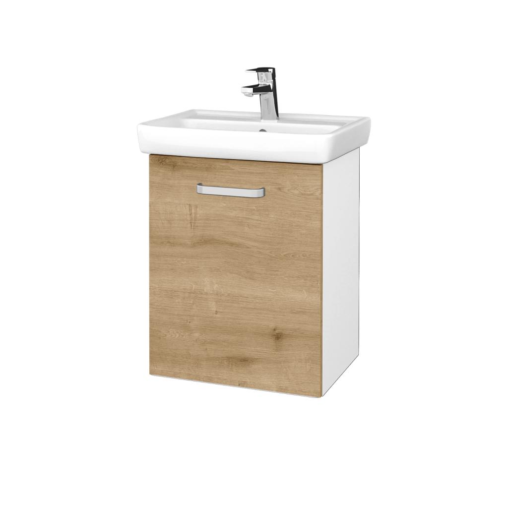 Dreja - Kúpeľňová skriňa DOOR SZD 50 - N01 Bílá lesk / Úchytka T01 / D09 Arlington / Levé (340599A)