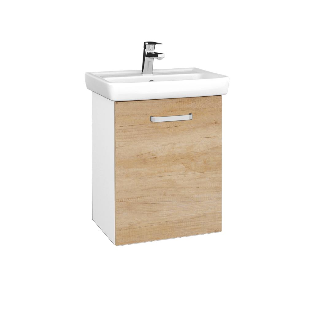 Dreja - Kúpeľňová skriňa DOOR SZD 50 - N01 Bílá lesk / Úchytka T01 / D15 Nebraska / Pravé (340612AP)