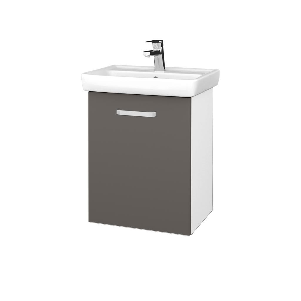 Dreja - Kúpeľňová skriňa DOOR SZD 50 - N01 Bílá lesk / Úchytka T01 / N06 Lava / Levé (340674A)