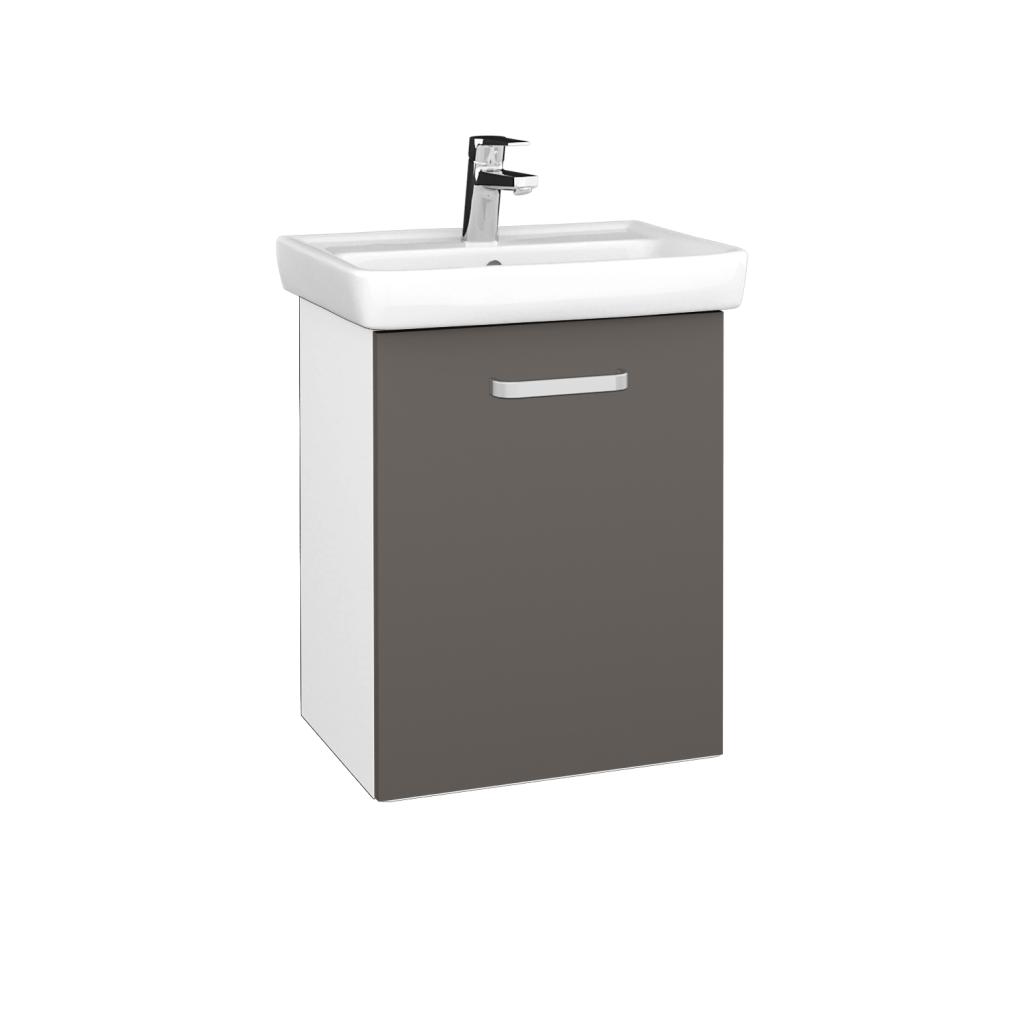 Dreja - Kúpeľňová skriňa DOOR SZD 50 - N01 Bílá lesk / Úchytka T01 / N06 Lava / Pravé (340674AP)