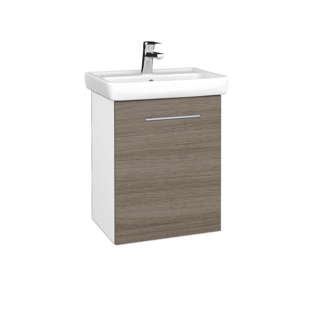Dreja - Kúpeľňová skriňa DOOR SZD 50 - N01 Bílá lesk / Úchytka T02 / D03 Cafe / Pravé (340544BP)