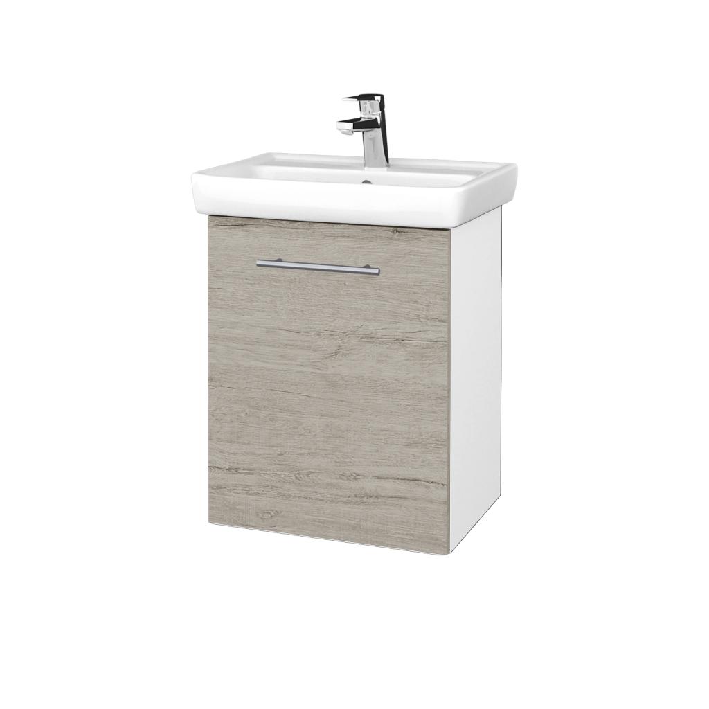 Dreja - Kúpeľňová skriňa DOOR SZD 50 - N01 Bílá lesk / Úchytka T02 / D05 Oregon / Levé (340568B)