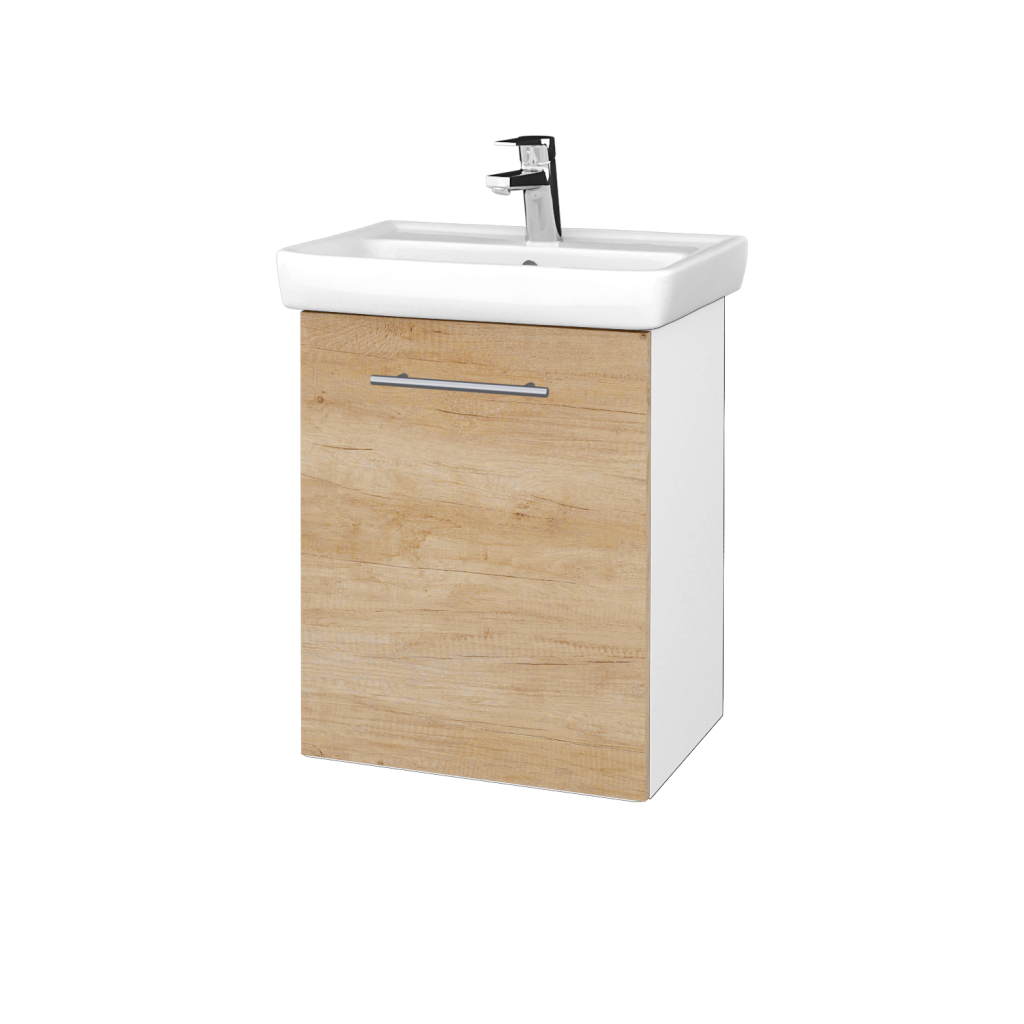 Dreja - Kúpeľňová skriňa DOOR SZD 50 - N01 Bílá lesk / Úchytka T02 / D15 Nebraska / Levé (340612B)