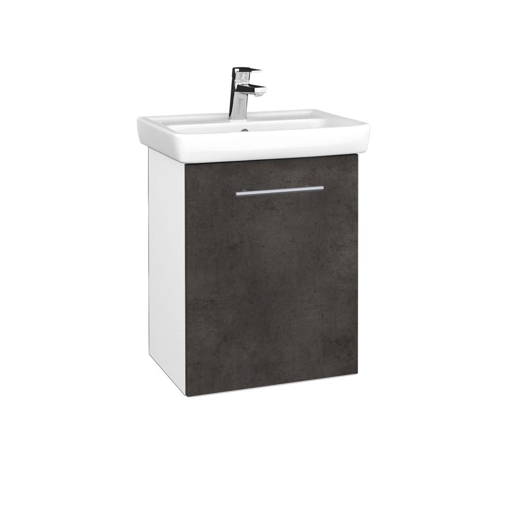 Dreja - Kúpeľňová skriňa DOOR SZD 50 - N01 Bílá lesk / Úchytka T02 / D16 Beton tmavý / Pravé (340629BP)