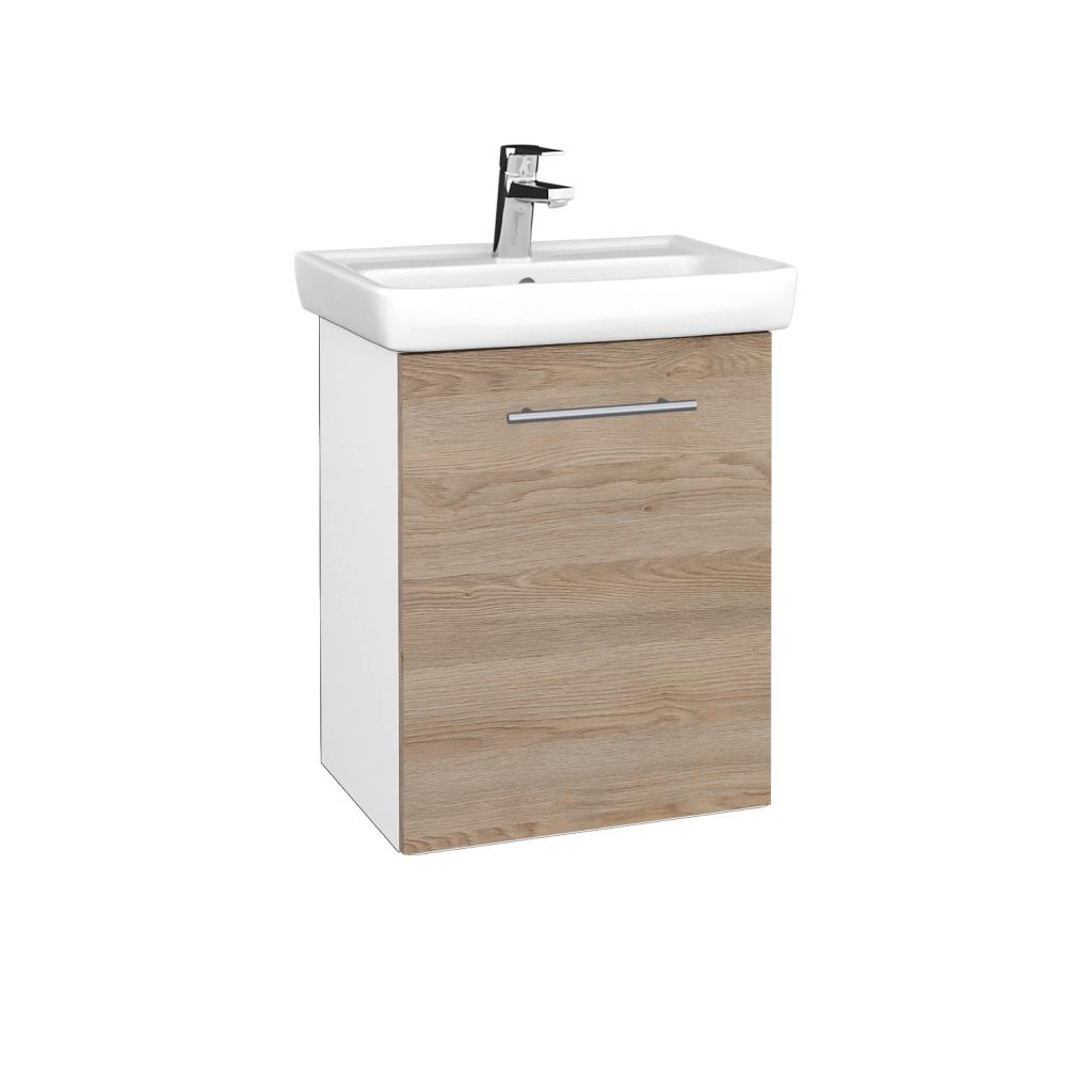 Dreja - Kúpeľňová skriňa DOOR SZD 50 - N01 Bílá lesk / Úchytka T02 / D17 Colorado / Pravé (340636BP)