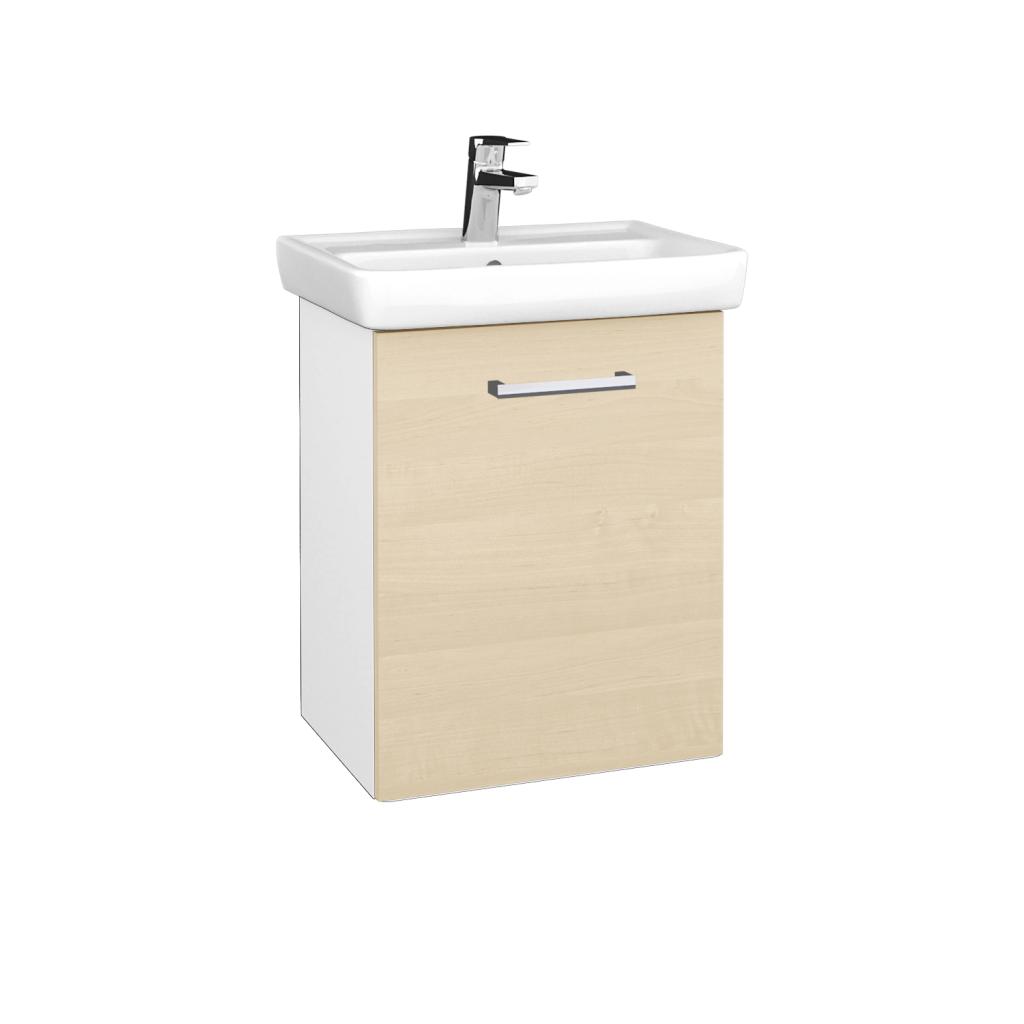 Dreja - Kúpeľňová skriňa DOOR SZD 50 - N01 Bílá lesk / Úchytka T03 / D02 Bříza / Pravé (340537CP)