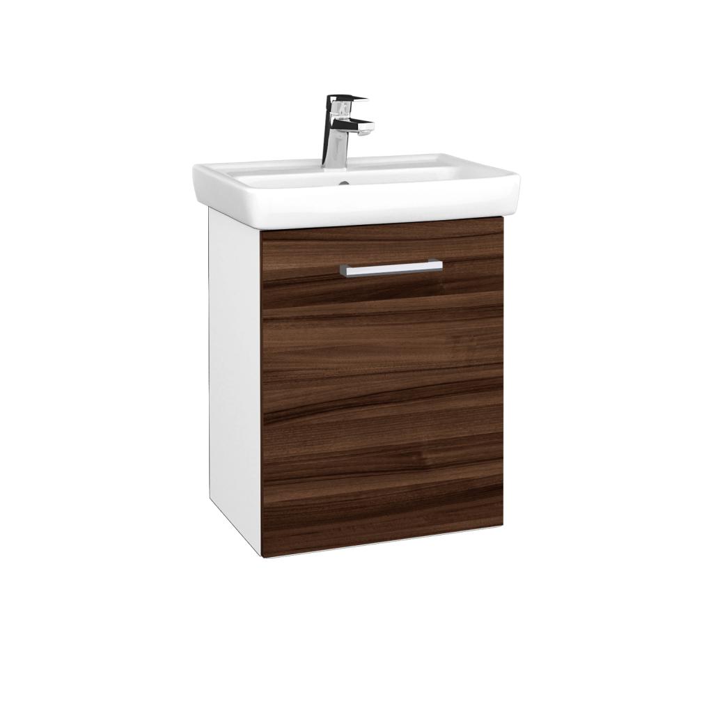 Dreja - Kúpeľňová skriňa DOOR SZD 50 - N01 Bílá lesk / Úchytka T03 / D06 Ořech / Pravé (340575CP)